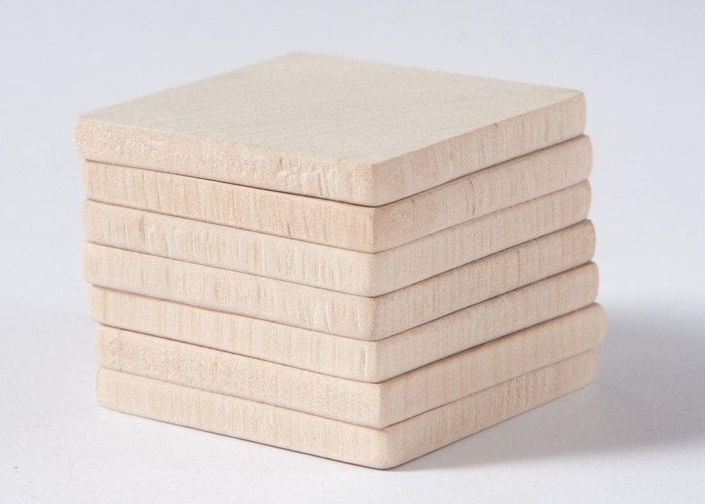 20 Stück unvollendet 1 3/44 5cm liefert Holz-Quadrate | Etsy