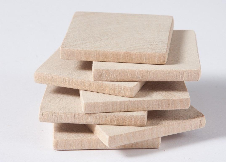 10 Stück unvollendet 1 3/44 5cm liefert Holz-Quadrate | Etsy