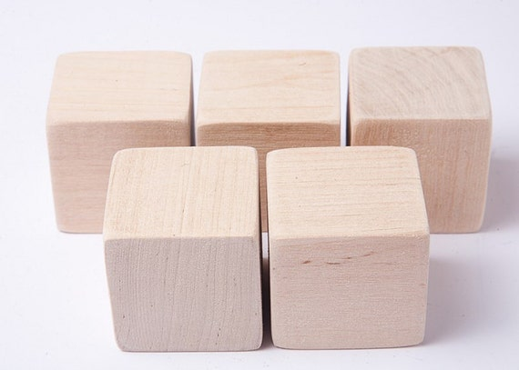 20 Pcs 1 34 Inch 45 Cm Unfinished Wood Blocks For Wood Crafts Wooden Cubes Wood Blocks Great For Baby Showers