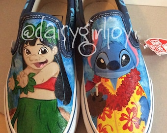 Custom hand painted Disney Lilo & Stitch shoes