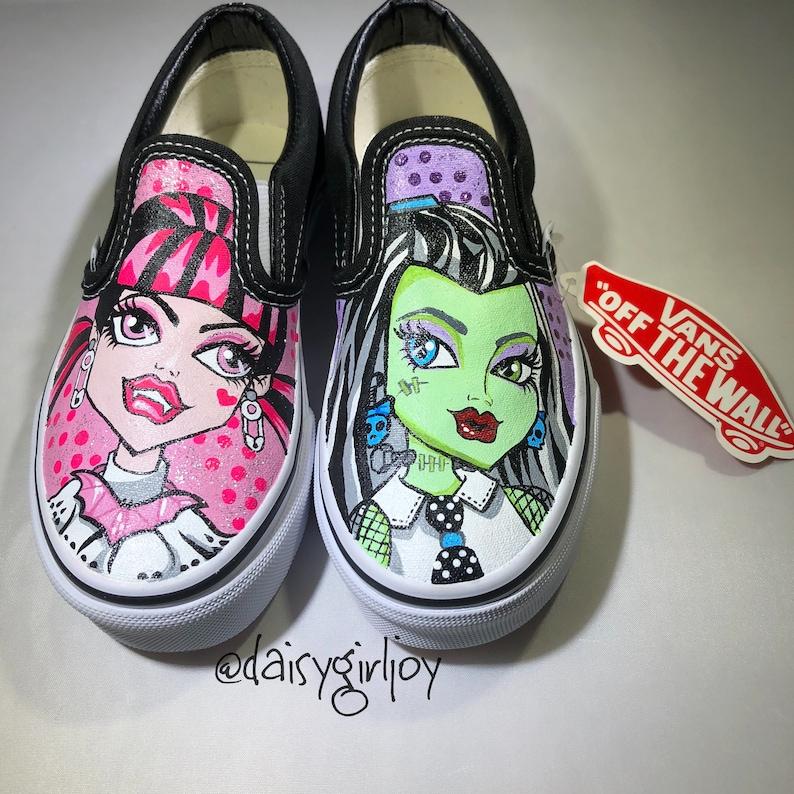 403756d96d7b8 Custom hand painted Monster High Toddler Children's shoes