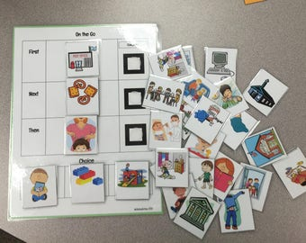 "Visual Schedule Autism Family Teacher Classroom ""On The Go"""