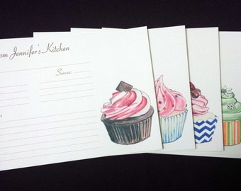 Personalized Recipe Cards: Cupcake Decadence {Set of 20} - made to order