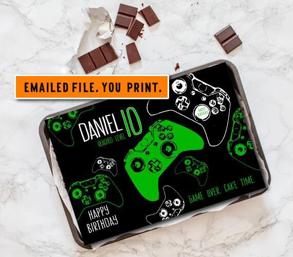 Outstanding Gamer Cake Topper Printable Video Game Taart Beeld Digitale Etsy Funny Birthday Cards Online Drosicarndamsfinfo