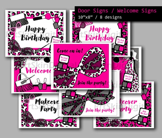 diva party door sign printable welcome sign diva birthday etsy