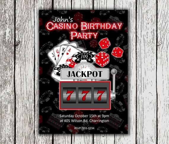 Casino Einladung Casino Thema Einladungen Casino Thema Druckbare Einladungen Casino Geburtstags Einladung Casino Party Poker Party