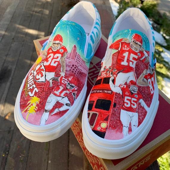Custom Vans Kansas City Chiefs   Etsy