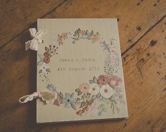 Customised Floral Hand Painted Wedding Photo Album