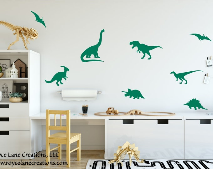 Dinosaur Decor/Dinosaur Sticker Set/Dinosaur Decal/Dinosaur Stickers/Dinosaur Decals for Wall/Dinosaur Decor for Boys Room/Dinosaur Wall Art