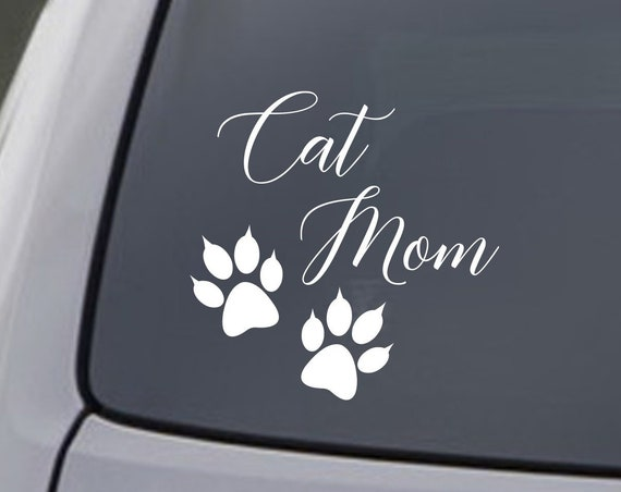 Cat Mom Decal for Car Window