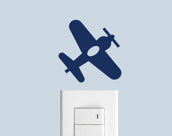 Airplane Light Switch Decal