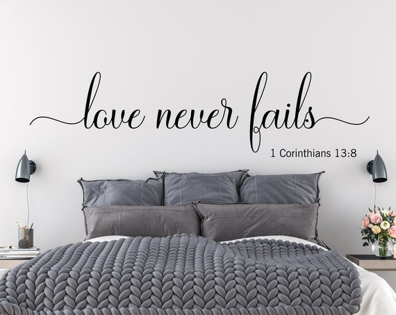 Love Never Fails 1 Corinthians 13 Wall Decal