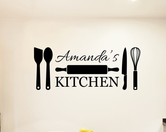 Personalized Kitchen Wall Decal