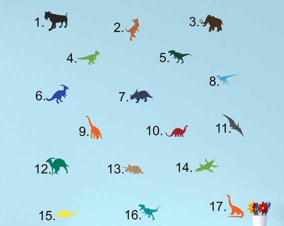 Dinosaur Decals for Walls, Laptops, iPads, Cars, Toddler Room