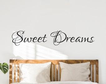 Sweet Dreams Decal - Sweet Dreams Vinyl Bedroom Wall Decal - Bedroom Decor- Bedroom Decals- Bedroom Decor-Bedroom Wall Decals-Bedroom Art