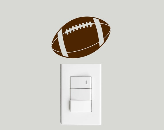 Football Light Switch Decal