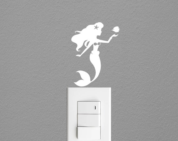 Mermaid Light Switch Decal