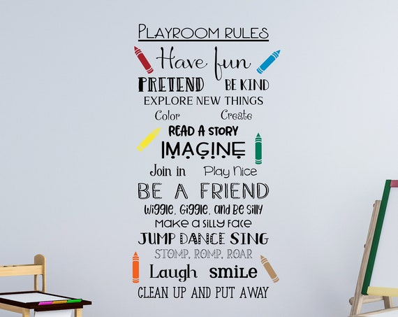 Playroom Rules Wall Decals
