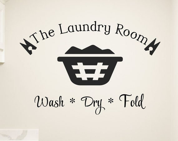 Wash Dry Fold Laundry Wall Decal