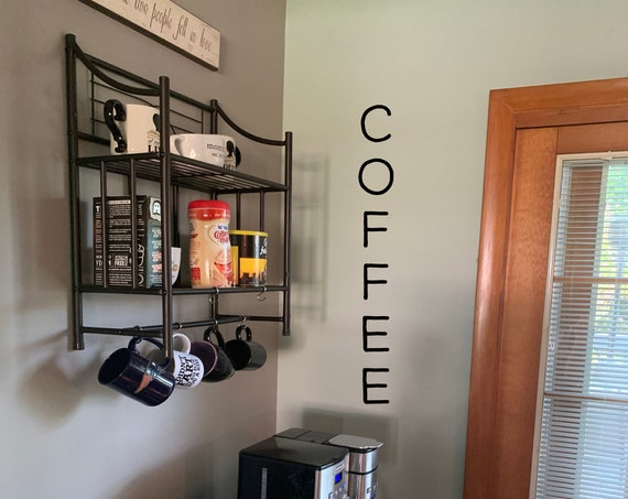 Vertical Coffee Decal / Vertical Coffee Bar Decal