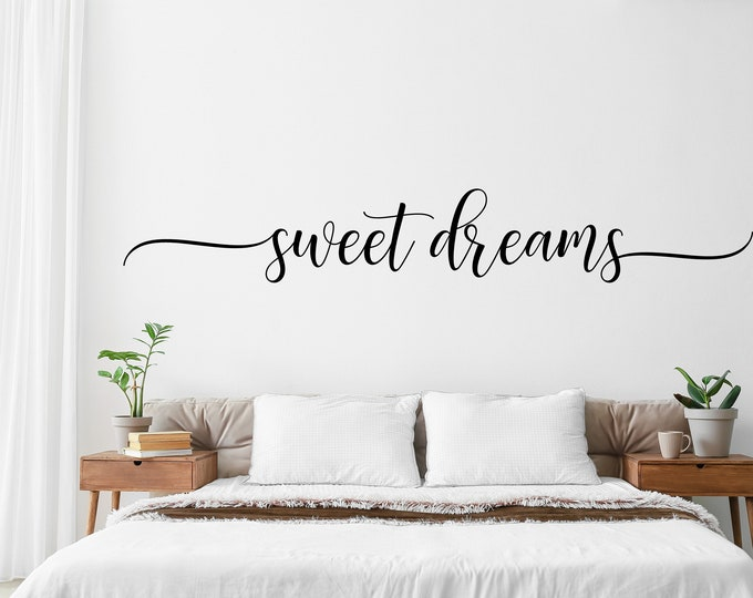 Featured listing image: Sweet Dreams Decal for Bedroom Wall