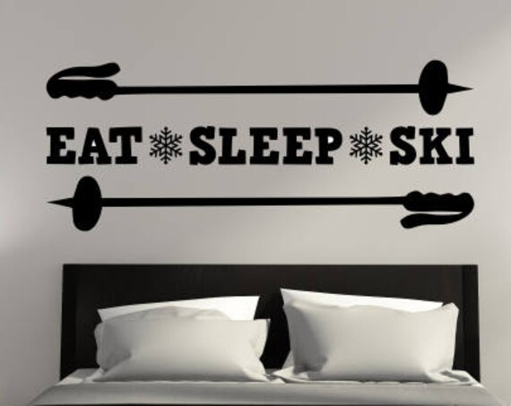 Eat Sleep Ski Decal