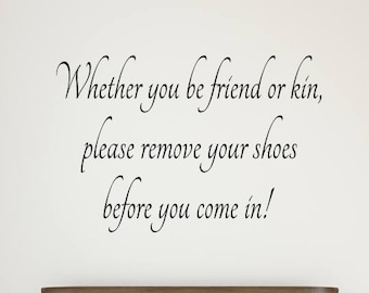 Remove Shoes Decal #3 - Remove Shoes Wall Decal - Remove Shoes Sign - Please Remove Shoes - Take Shoes Off Sign - Remove Shoes Decals