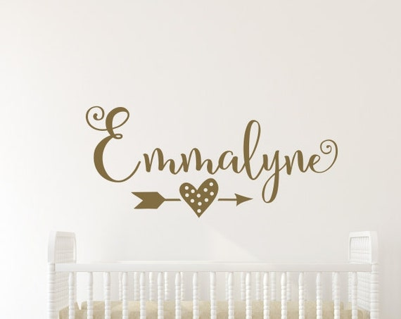 Baby Girl Name Nursery Gold Arrow
