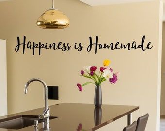 Ordinaire More Colors. Happiness Is Homemade Kitchen Wall Decal ...