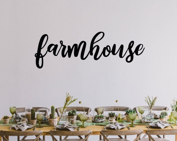 Farmhouse Decal / Farm House Wall Decor / Farm House Decal / Farm House Signs Vinyl / Farmhouse Sign Vinyl / Farmhouse Wall Decor/Farm Decor