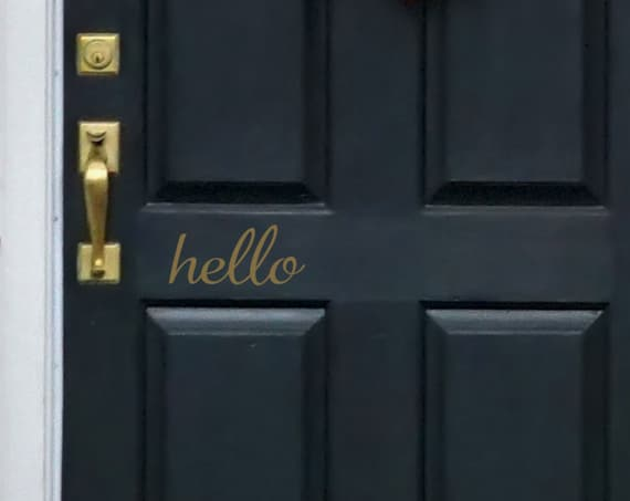 Hello Door Decal for Front Door