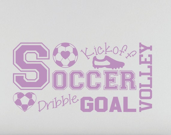Soccer Wall Decal for Girls Room