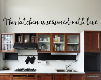 Popular Items For Kitchen Wall Decal