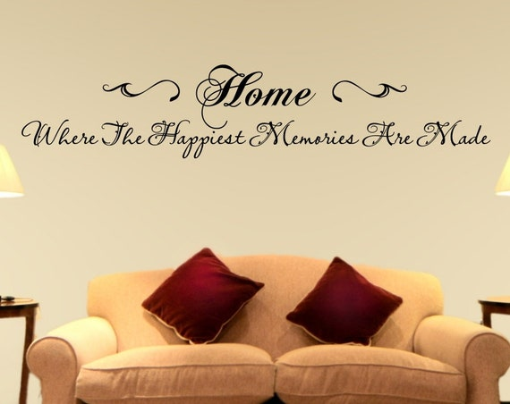 Home Where the Happiest Memories are Made Wall Quote Decal
