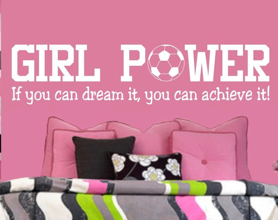 Girl Power Teen Girl Soccer Wall Decal