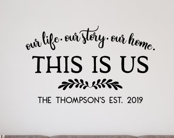 This is Us Family Established Decal