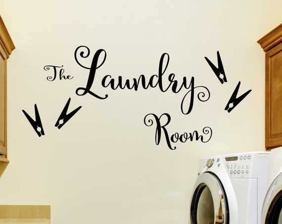 Laundry Room Decal- The Laundry Room L6R- Laundry Decal- Laundry Room Decor- Vinyl Laundry Decal- Vinyl Laundry Sign- Laundry Wall Decal