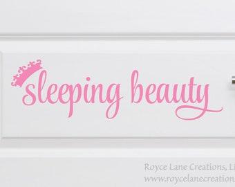 Sleeping Beauty Door Decal for Do Not Wake Baby