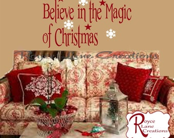 Believe in the Magic of Christmas #2 Christmas Wall Decal