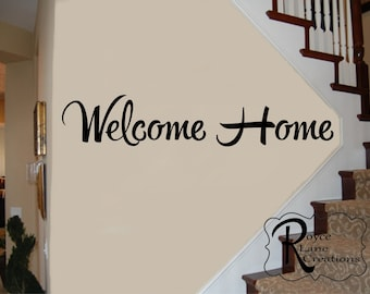 Welcome Home Vinyl Wall Decal