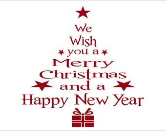 Holiday Wish Christmas Tree Wall Decal
