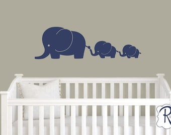 3 Elephant Family Nursery Elephant Wall Decal