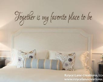 Bedroom Wall Quotes / Loving You / Love Quotes Decals / Love ...