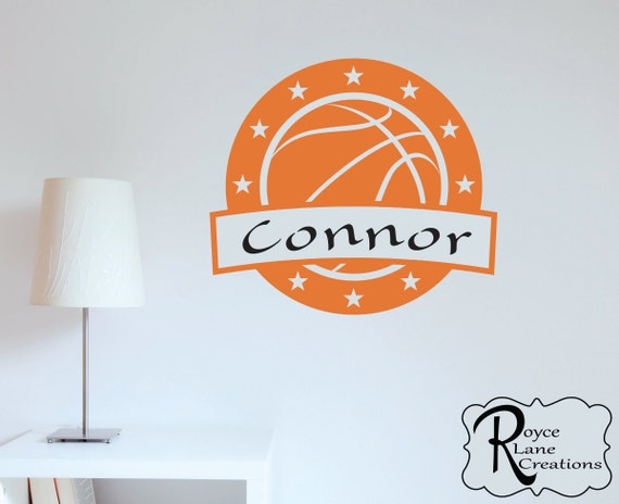 Basketball Emblem with Personalized Name for Boys or Girls