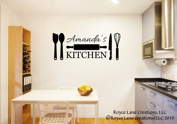 Personalized Kitchen Wall Decal Decals Etsy