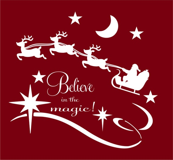 Believe in the Magic of Christmas Sticker Vinyl Christmas Decoration