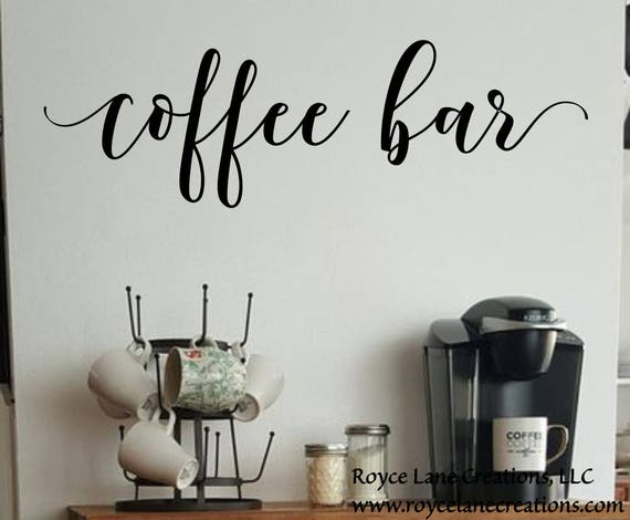 Coffee Bar Decal