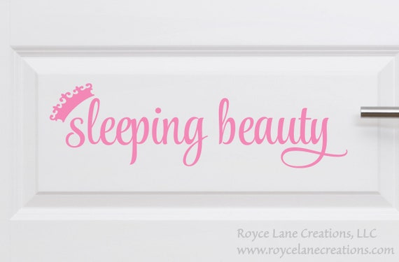 Sleeping Beauty Door Decal for Do Not Wake Baby