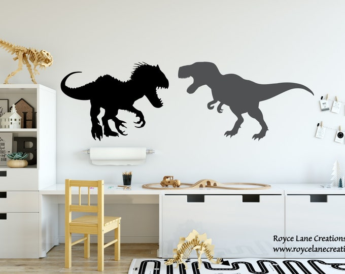 Indominus Rex Jurassic World Fallen Kingdom T Rex Wall Decal / Jurassic Park Decal / trex decal / trex sticker / Jurassic World Stickers Kid