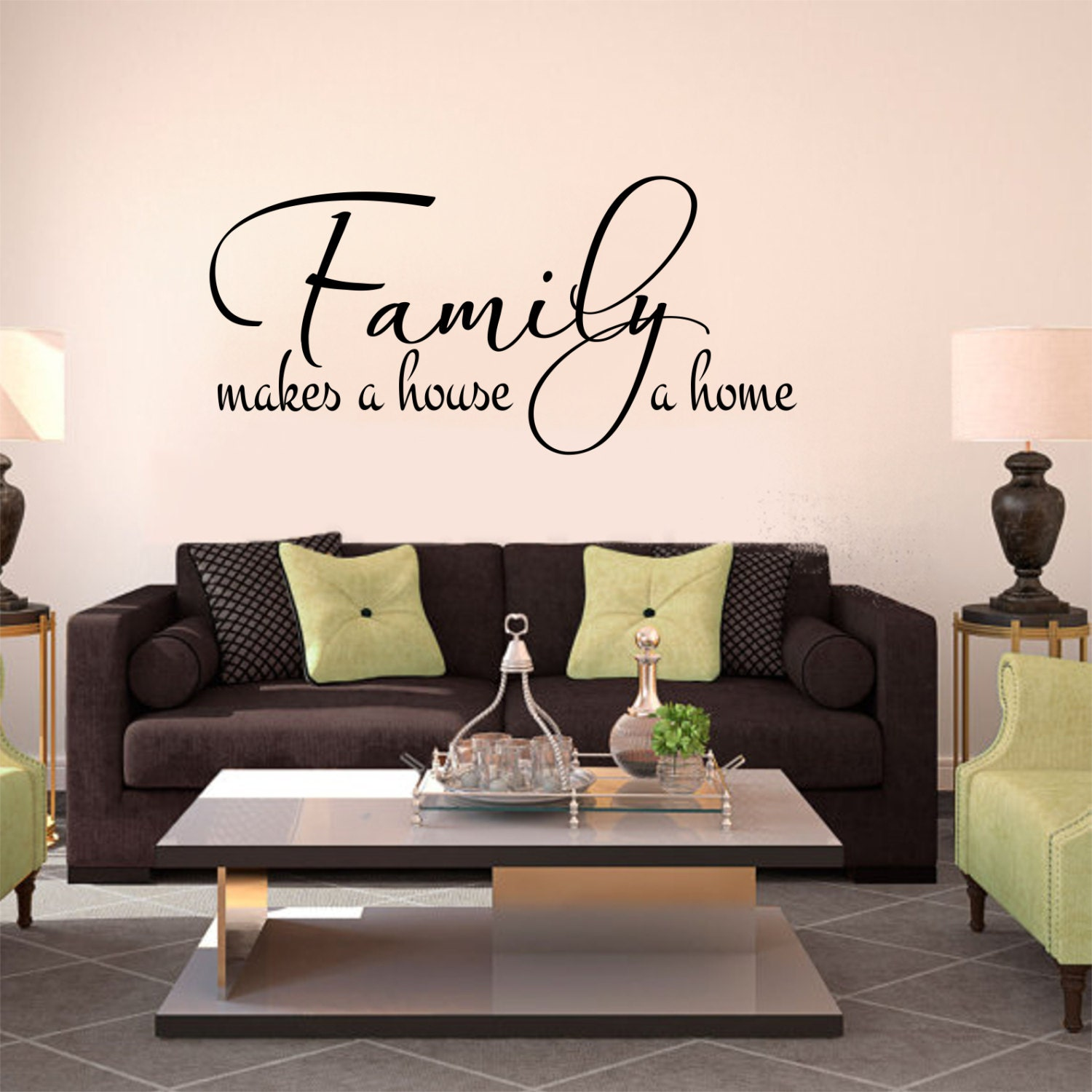 Family Decal Family Makes A House A Home 2 Family Wall Decal